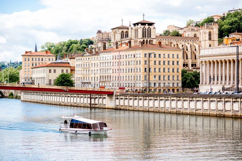 Città di Lione in Francia fotografia stock libera da diritti