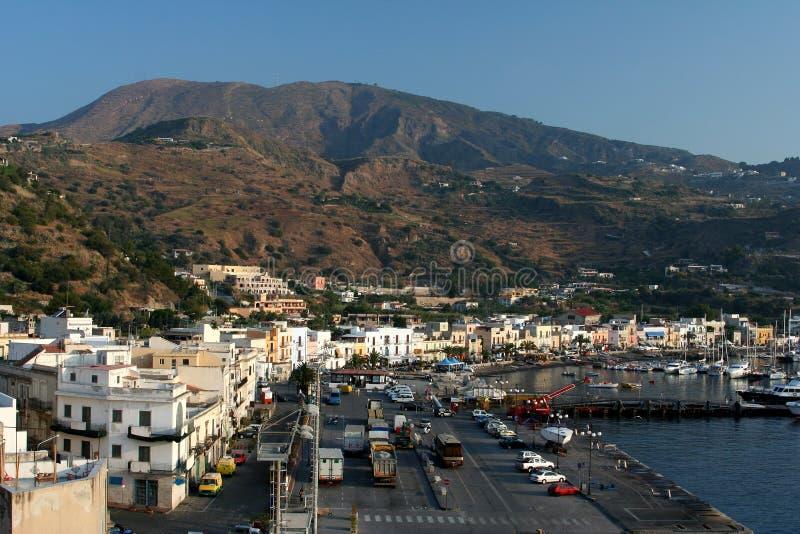Città di Lipari immagini stock libere da diritti