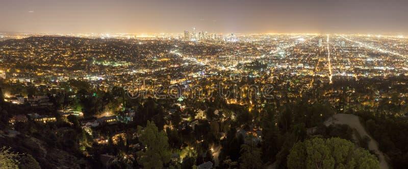 Città di Los Angeles alla notte immagine stock libera da diritti