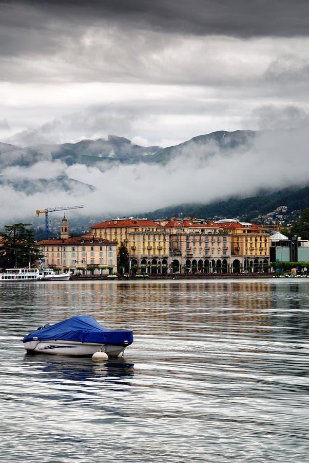 Città di Lugano   fotografia stock