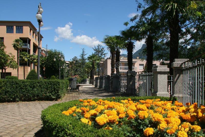 Città di Lugano, Svizzera fotografie stock