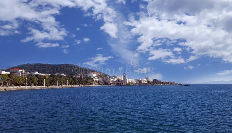 Città di lungomare di Volos immagine stock libera da diritti