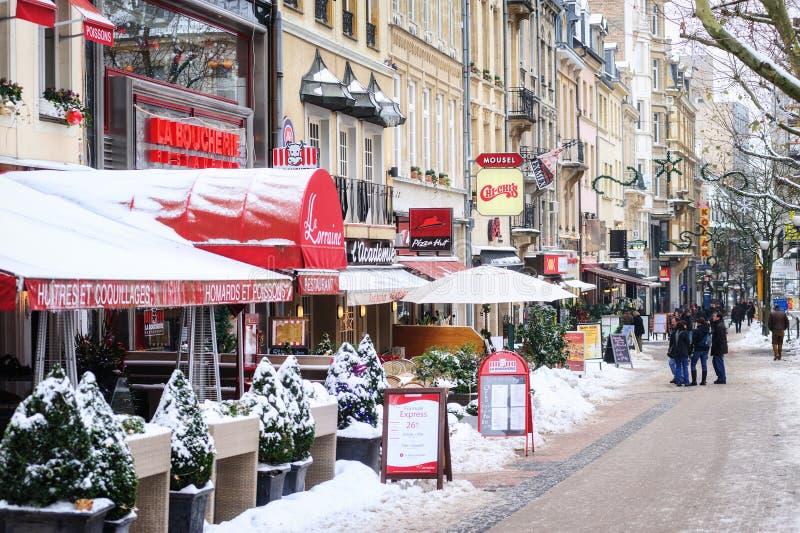 Città di Lussemburgo fotografie stock