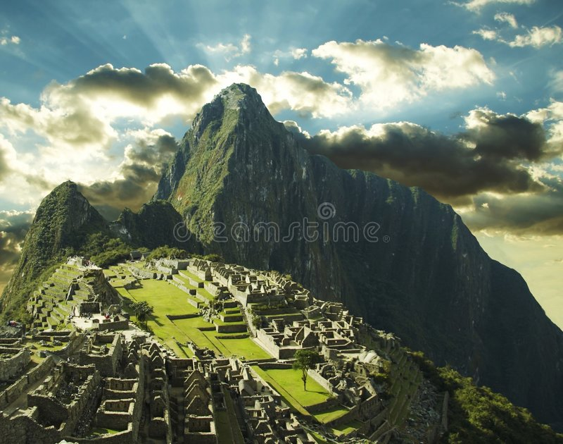 Città di Machu-Picchu fotografie stock libere da diritti