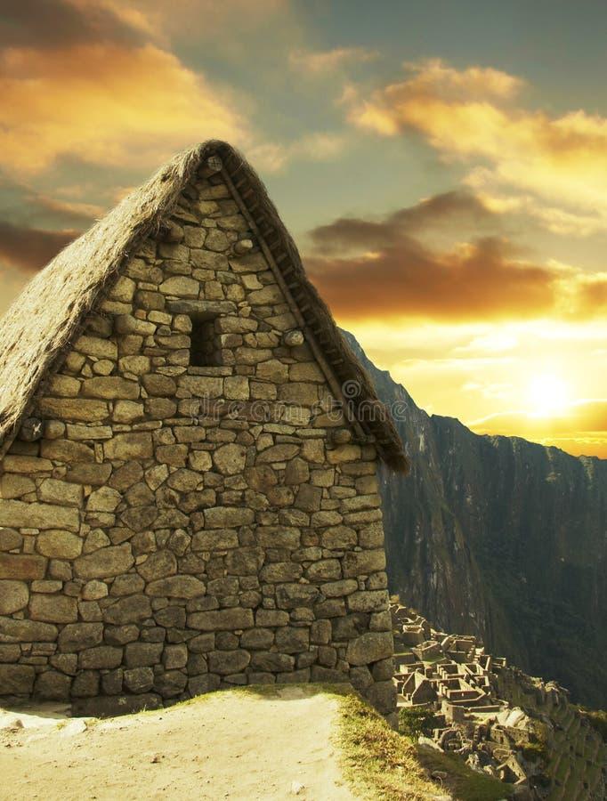 Città di Machu-Picchu fotografie stock