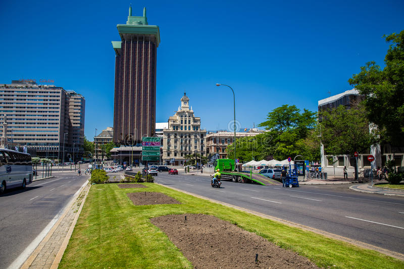 Città di Madrid immagine stock