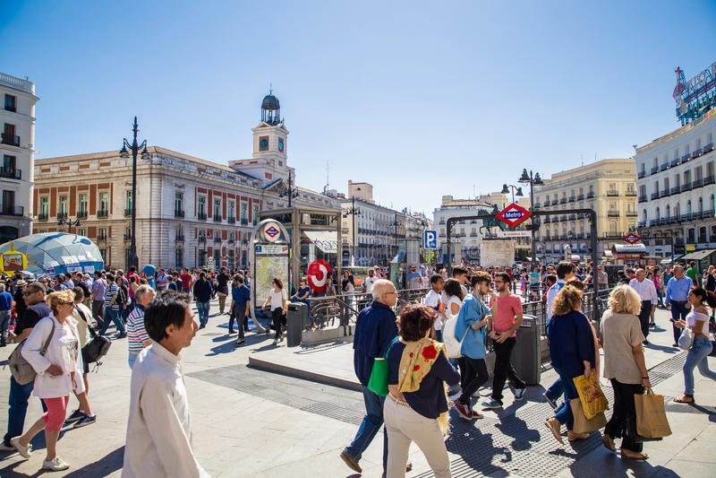 Città di Madrid fotografie stock