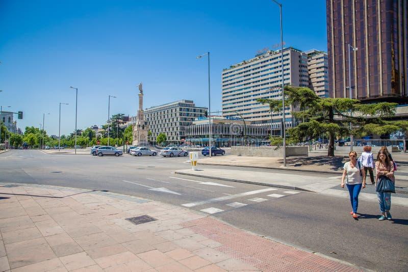 Città di Madrid immagini stock libere da diritti