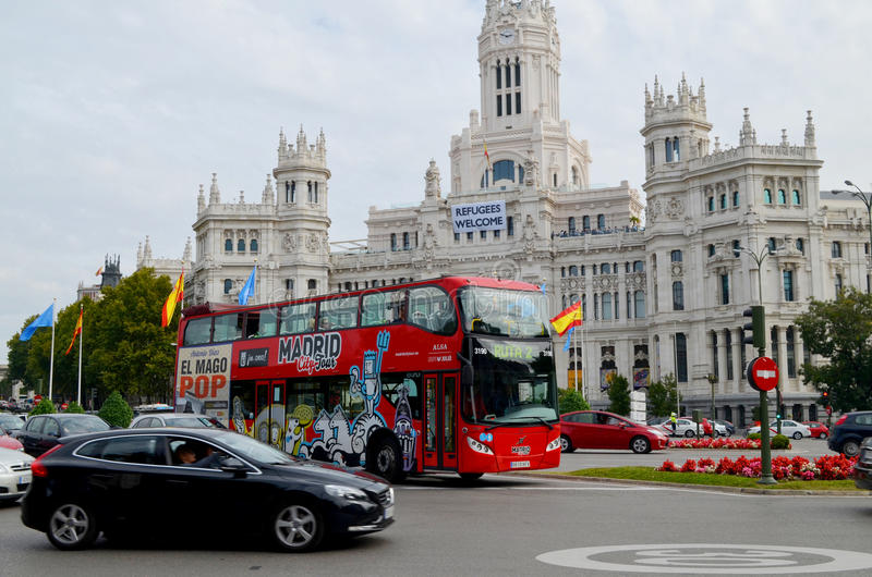 Città di Madrid fotografia stock