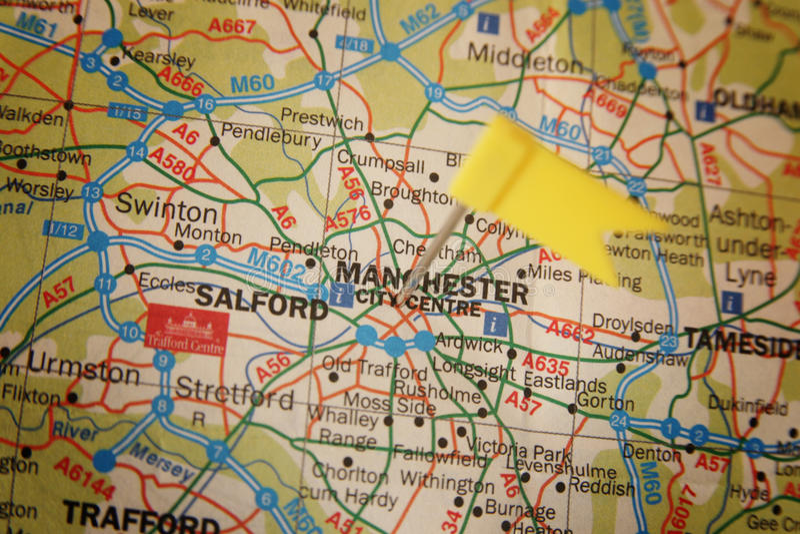 Città di Manchester fotografia stock
