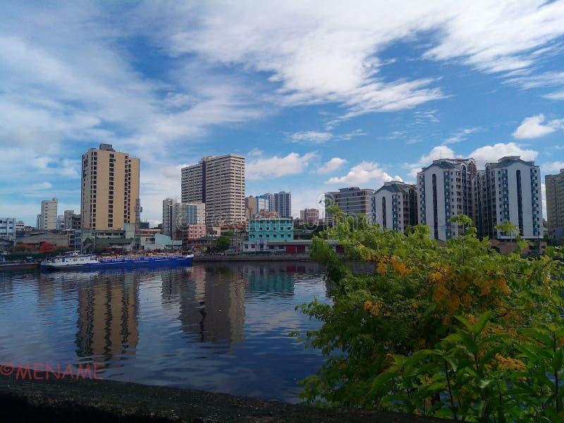 Città di Manila immagini stock