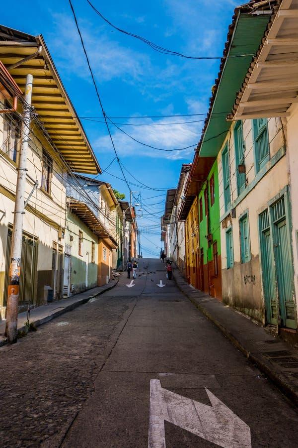 Città di Manizales in Colombia immagine stock