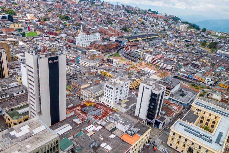 Città di Manizales in Colombia immagini stock