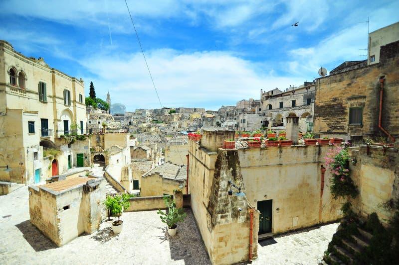 Città di Matera Sud dell'Italia immagine stock