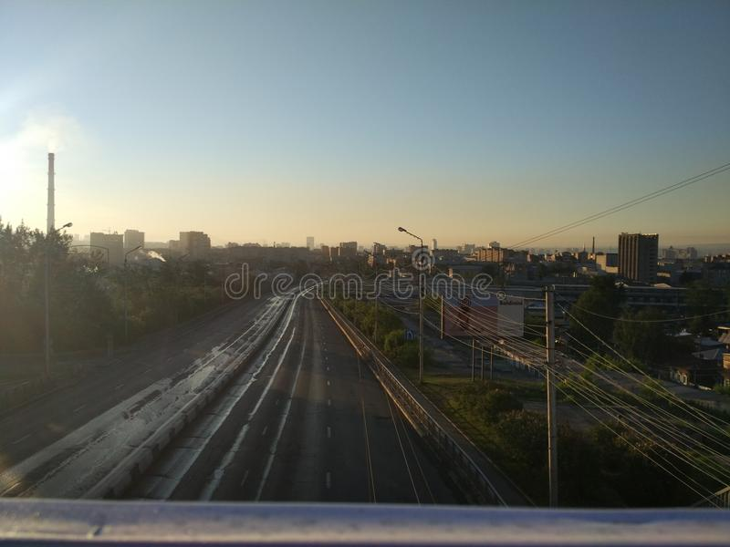 Città di mattina fotografia stock