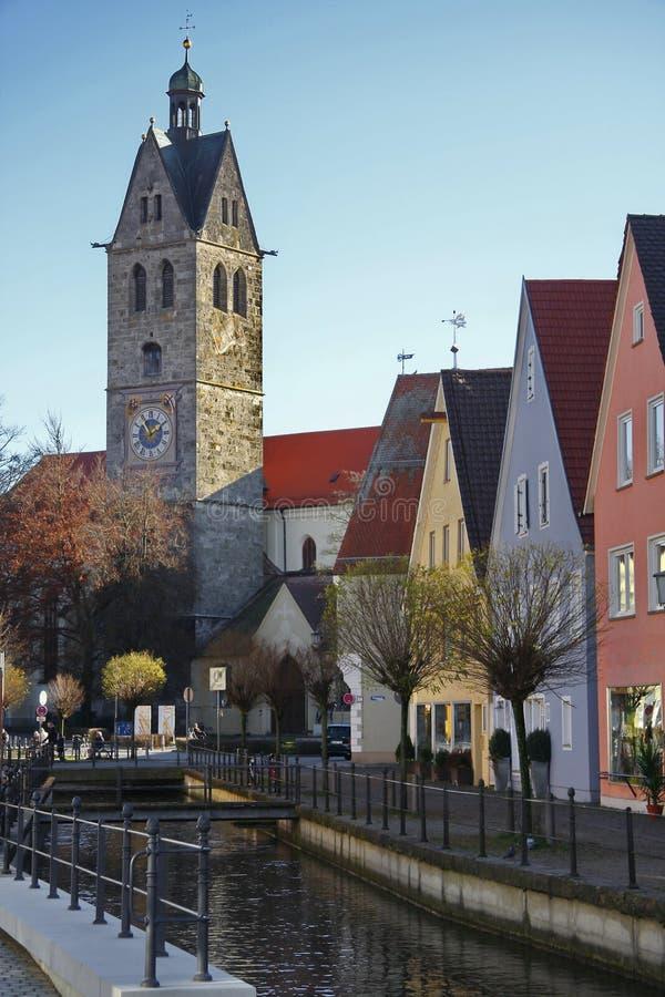 Città di Memmingen immagini stock