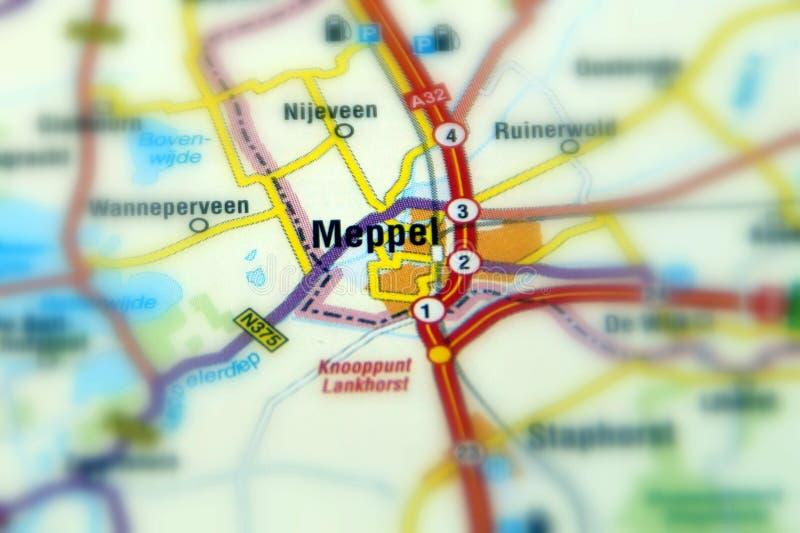 Città di Meppel - i Paesi Bassi fotografia stock