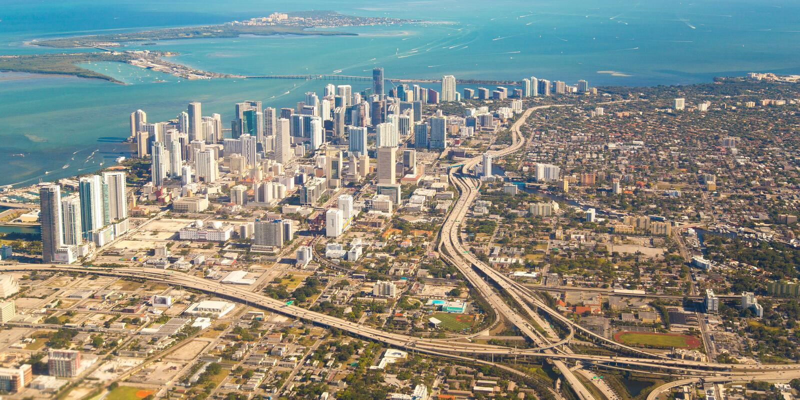 Città di Miami immagine stock libera da diritti