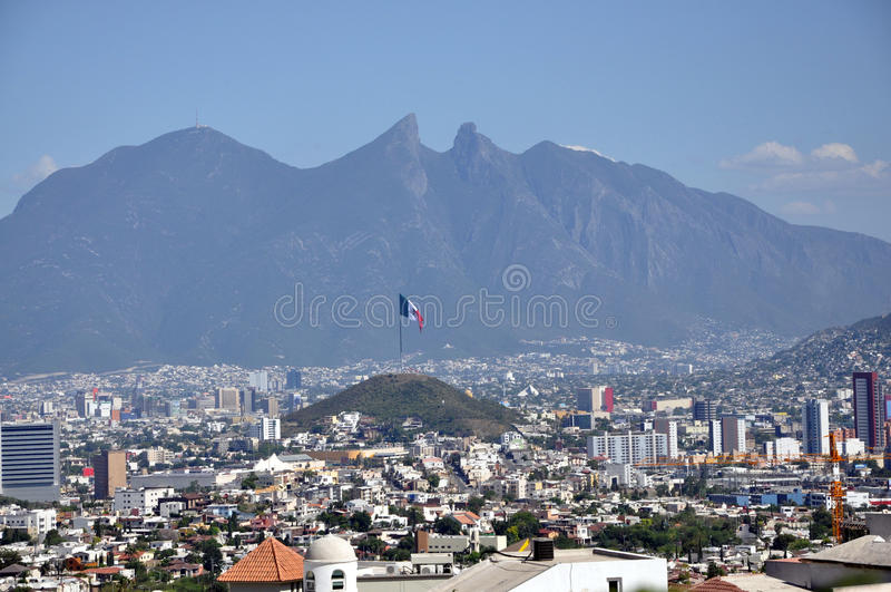 Città di Monterrey fotografie stock