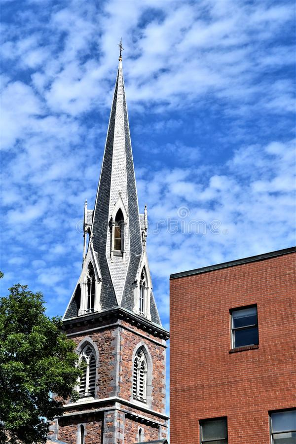 Città di Montpelier, Washington County, Vermont, Stati Uniti, capitale dello Stato fotografia stock libera da diritti