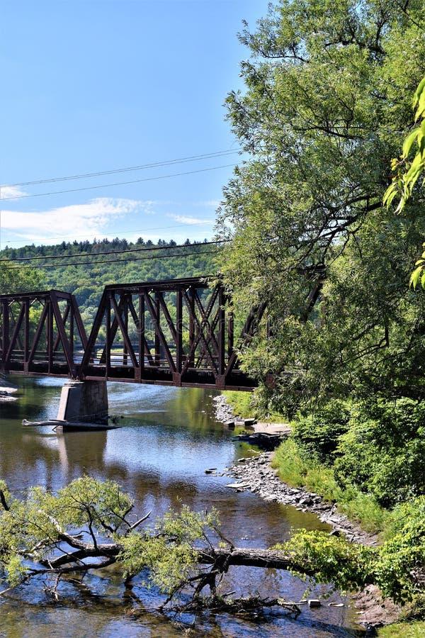 Città di Montpelier, Washington County, Vermont, Stati Uniti, capitale dello Stato immagine stock libera da diritti