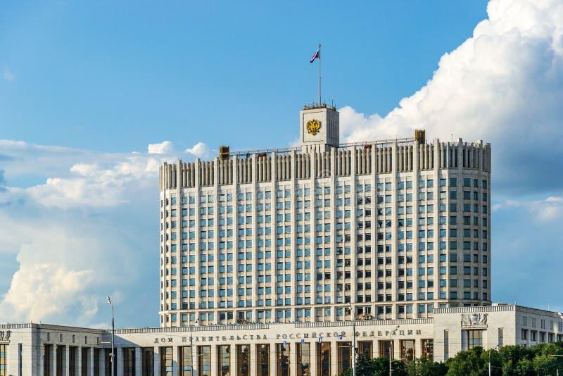 Città di Mosca, Camera della Federazione Russa, fiume di governo di Mosca fotografia stock libera da diritti