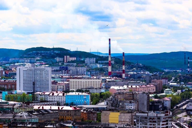 Città di Murmansk, Russia fotografie stock