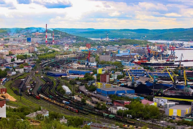 Città di Murmansk, Russia immagini stock