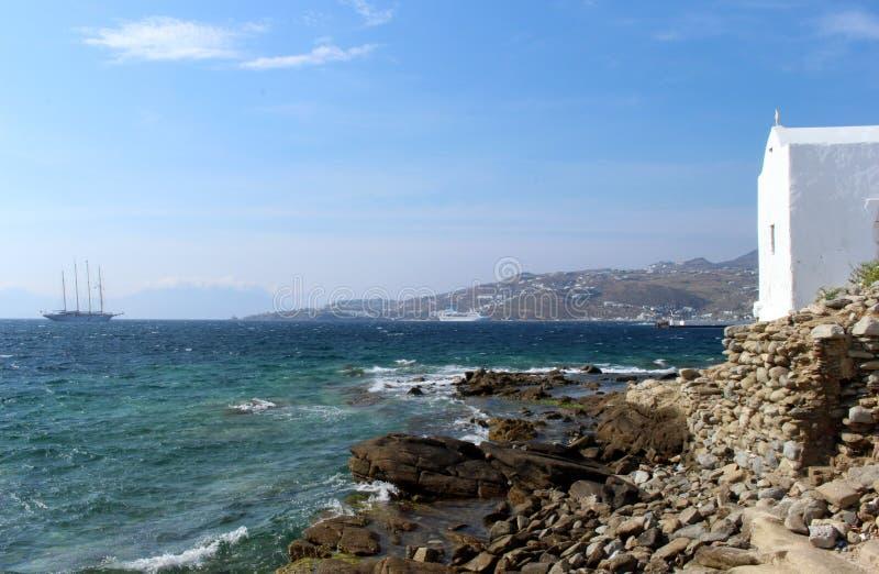 Città di Mykonos, Mykonos, Grecia fotografia stock libera da diritti