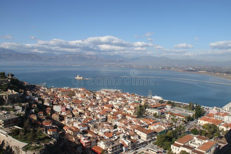 Città di Nauplia, Grecia fotografia stock