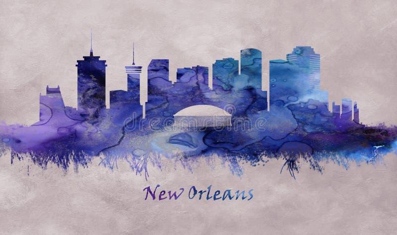 Città di New Orleans in Luisiana, orizzonte royalty illustrazione gratis