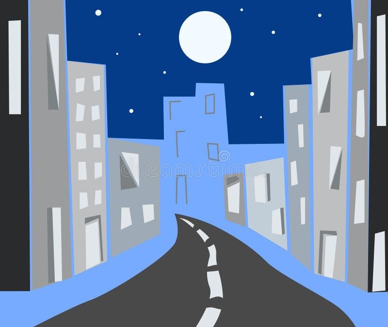 Città di notte illustrazione di stock