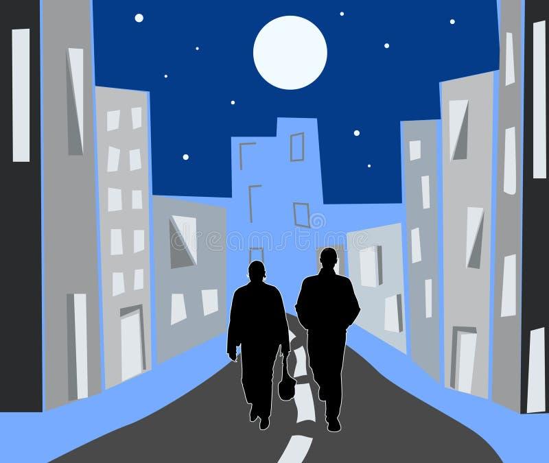 Città di notte royalty illustrazione gratis