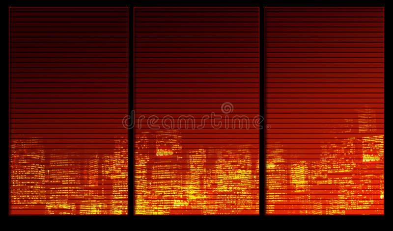 Città di notte illustrazione vettoriale