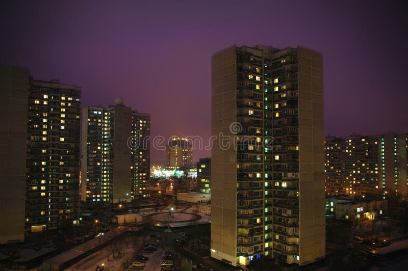 Città di notte. Krilatskoe, Mosca fotografia stock
