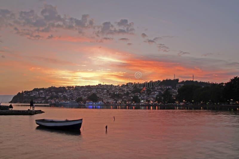 Città di Ohrid immagini stock libere da diritti