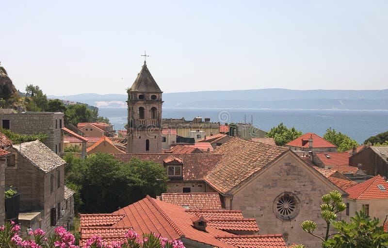 Città di Omis, Croatia fotografie stock