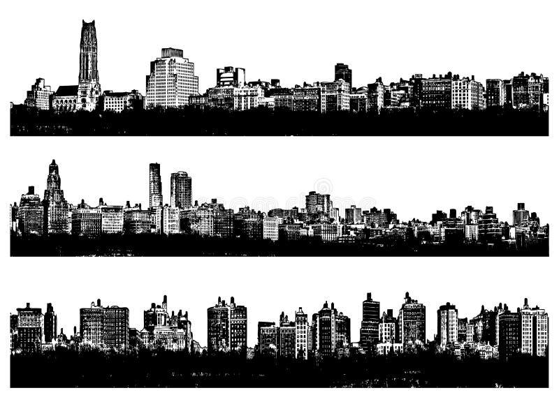Città di panorama illustrazione di stock