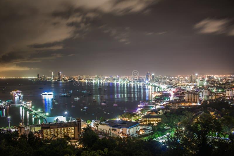 Città di Pattaya in Tailandia immagini stock libere da diritti