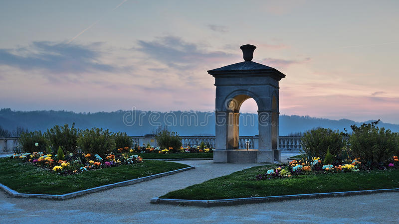 Città di Pau, fontana fotografie stock