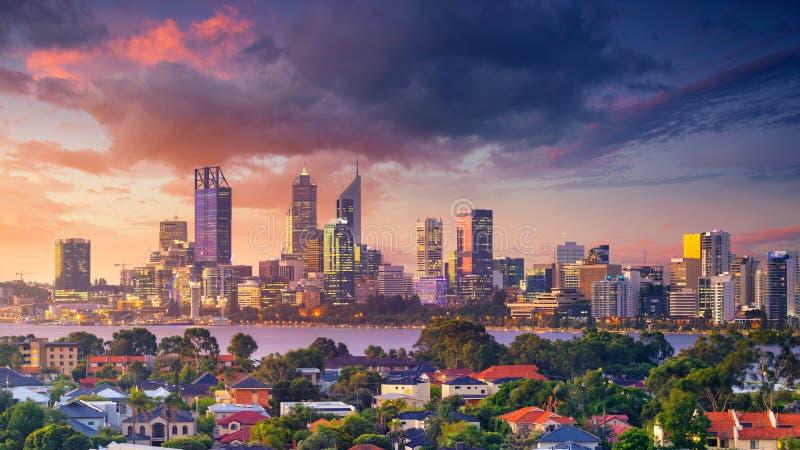 Città di Perth fotografie stock