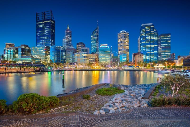 Città di Perth, Australia fotografie stock libere da diritti