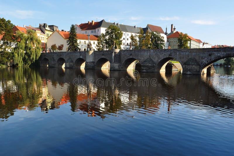 Città di Pisek, Repubblica ceca fotografia stock libera da diritti
