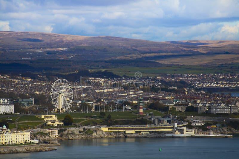 Città di Plymouth , Devon Uk fotografia stock libera da diritti