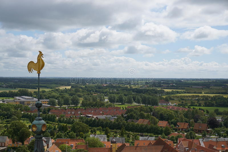 Città di Ribe in Danimarca immagini stock libere da diritti