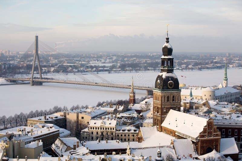 Città di Riga immagini stock