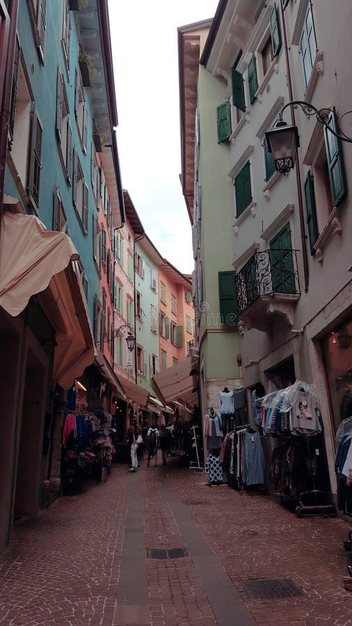 Città di Riva del Garda Italia immagini stock libere da diritti