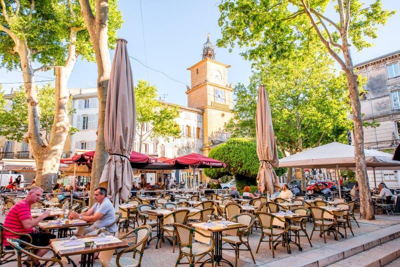 Città di Salon de Provence in Francia immagine stock libera da diritti