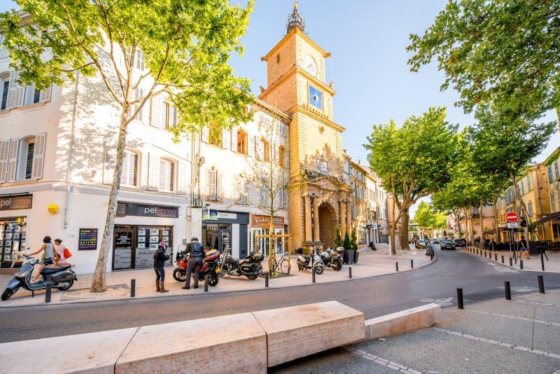 Città di Salon de Provence in Francia immagini stock