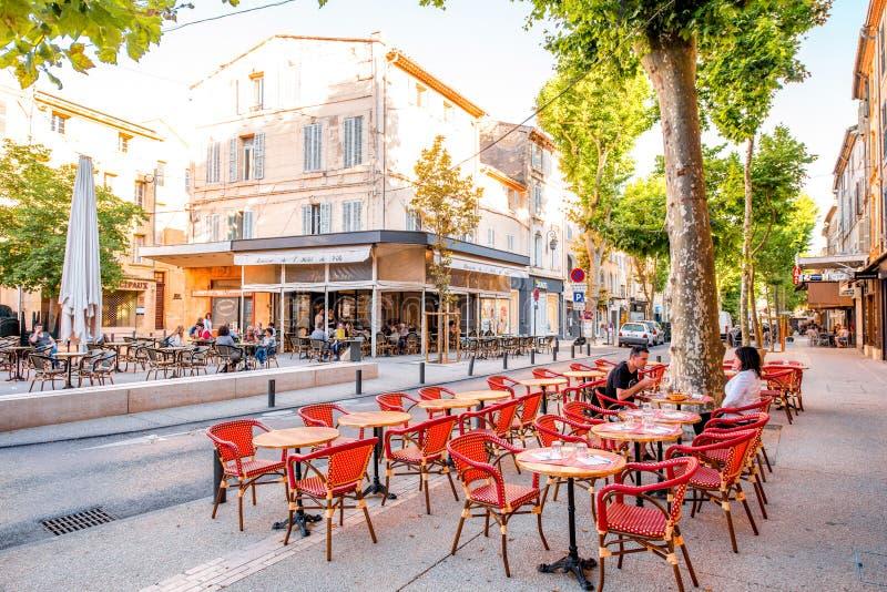 Città di Salon de Provence in Francia fotografia stock